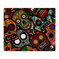 Day Of The Dead Throw Blanket > Day of the Dead > High Altitudes Too