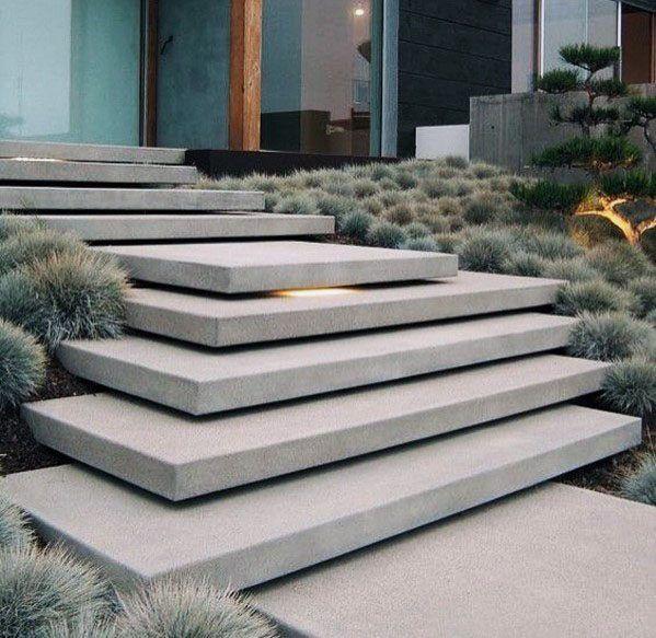 Top 60 Best Concrete Walkway Ideas Outdoor Path Designs Patio Stairs Concrete Walkway Concrete Patio