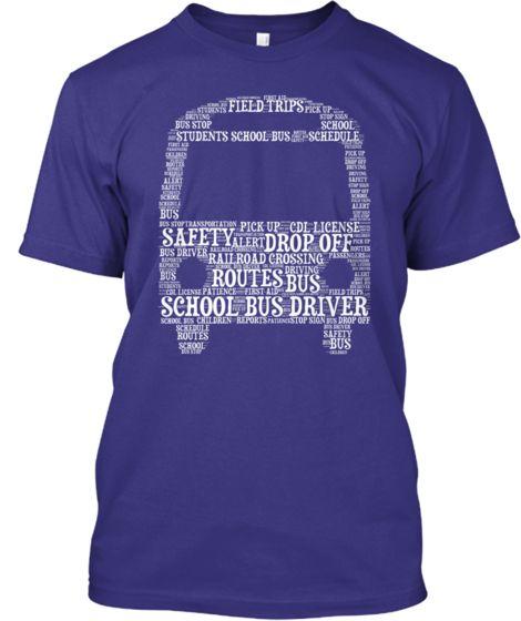 School Bus Driver - Word Art T-Shirt