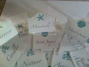 Segnatavolo Tema marino - matrimonio comunione battesimo @lorednamanriotto.com