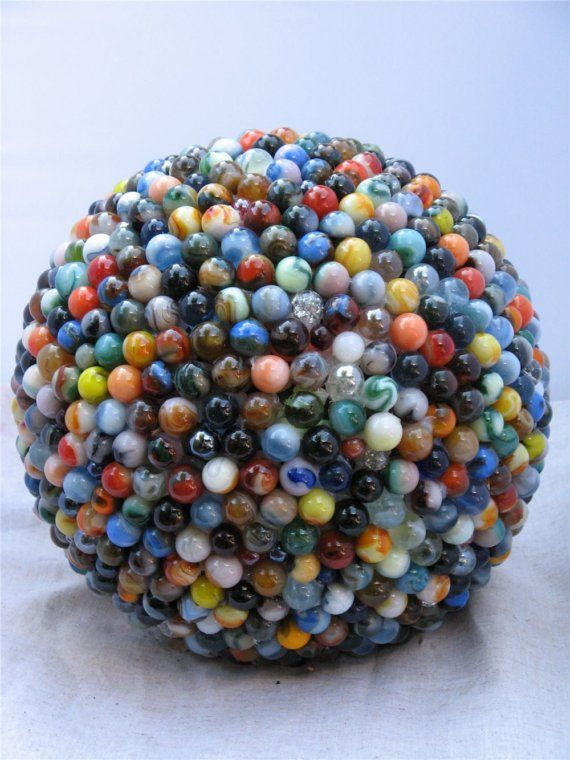 Marble Garden Sphere! maybe a craft for the kids! Makes me wish I had kept my marbles.