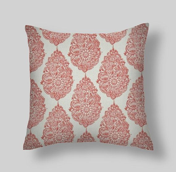 Ordinary Best Throw Pillow Covers Part - 10: Coral Pillow, Coral Throw Pillow, Pillow Cover, Floral Pillow, White /  Coral Pillow, Floral . Euro Sham Farmhouse. Cushion