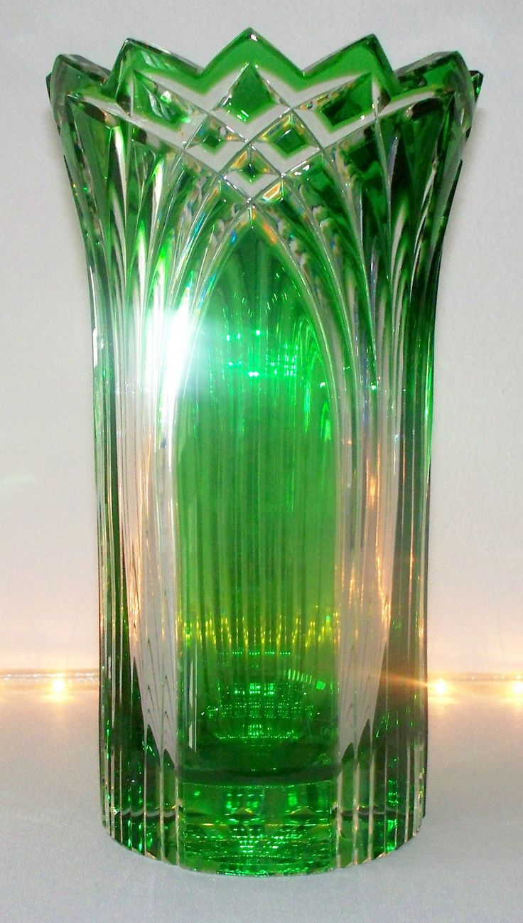 264 best cristal de bohemia images on pinterest crystals czech caesar crystal 8 cased green vase czech republic bohemian estate clear 1990s floridaeventfo Image collections