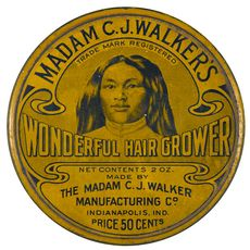Product tin, Madam C. J. Walker's manufacturing Co. Indianapolis, IN, c. 1925