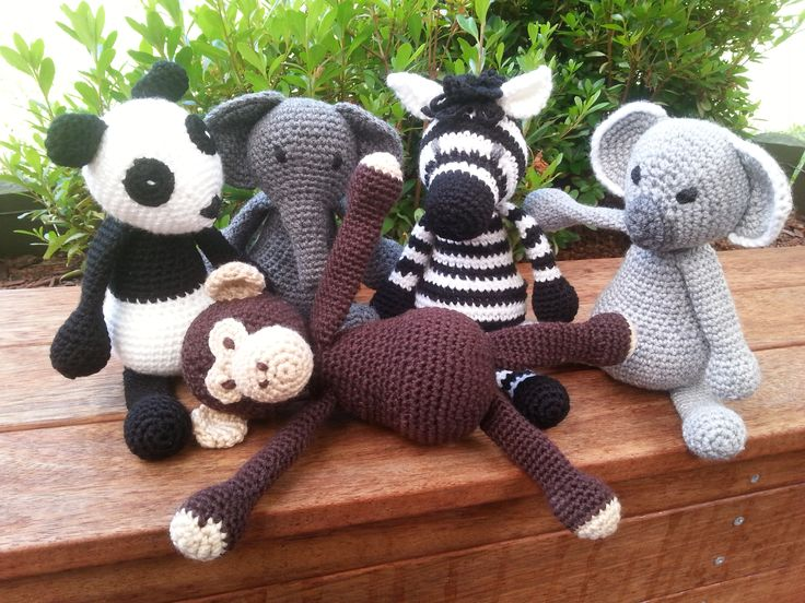 My crochet animals Patterns from Edward's Menagerie