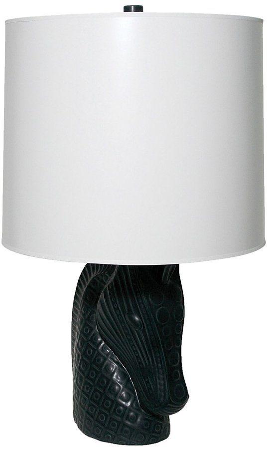 Jonathan Adler Horse Head Lamp, Black Base