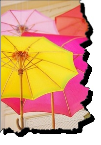 12. Summer Colors: Pink and yellow! My favorite colors indeed. Care to join me under my umbrella?