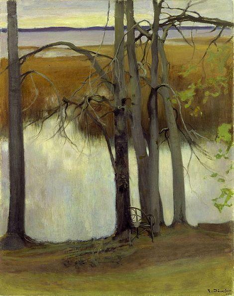 Eero Järnefelt, Lake Shore with Reeds on ArtStack #eero-jarnefelt #art