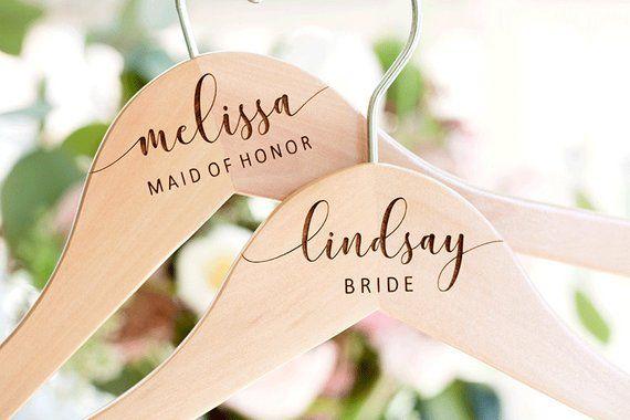 Wedding Hanger Bridesmaid Hangers Bridal Dress Hanger
