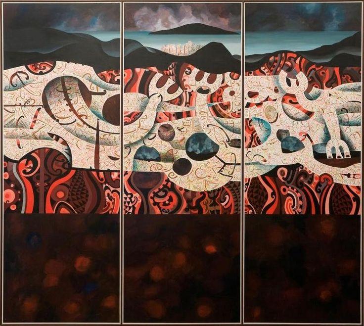 Buck Nin (New Zealand Artist) - Rangitoto 1984