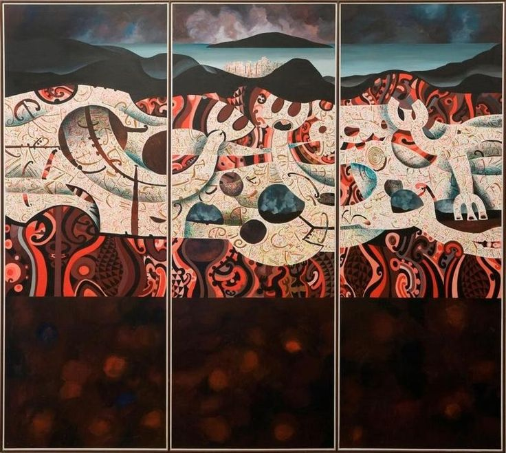Buck Nin (New Zealand Artist) - Rangitoto 1984