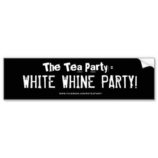 White whine party bumper stickers