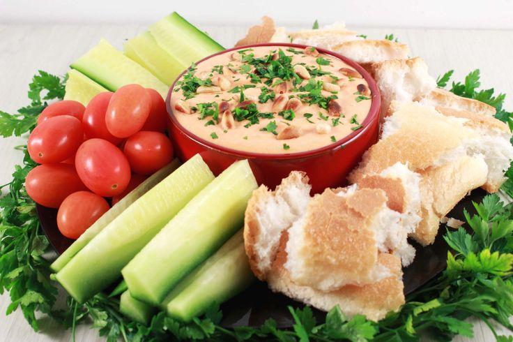 dip met geroosterde paprika & feta
