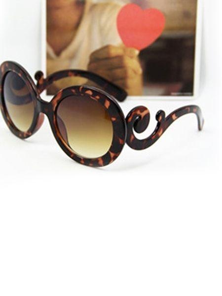 Retro Style Round Frame Anti UV Polarized Sunglasses