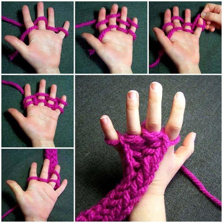 Finger Knitting Instructions