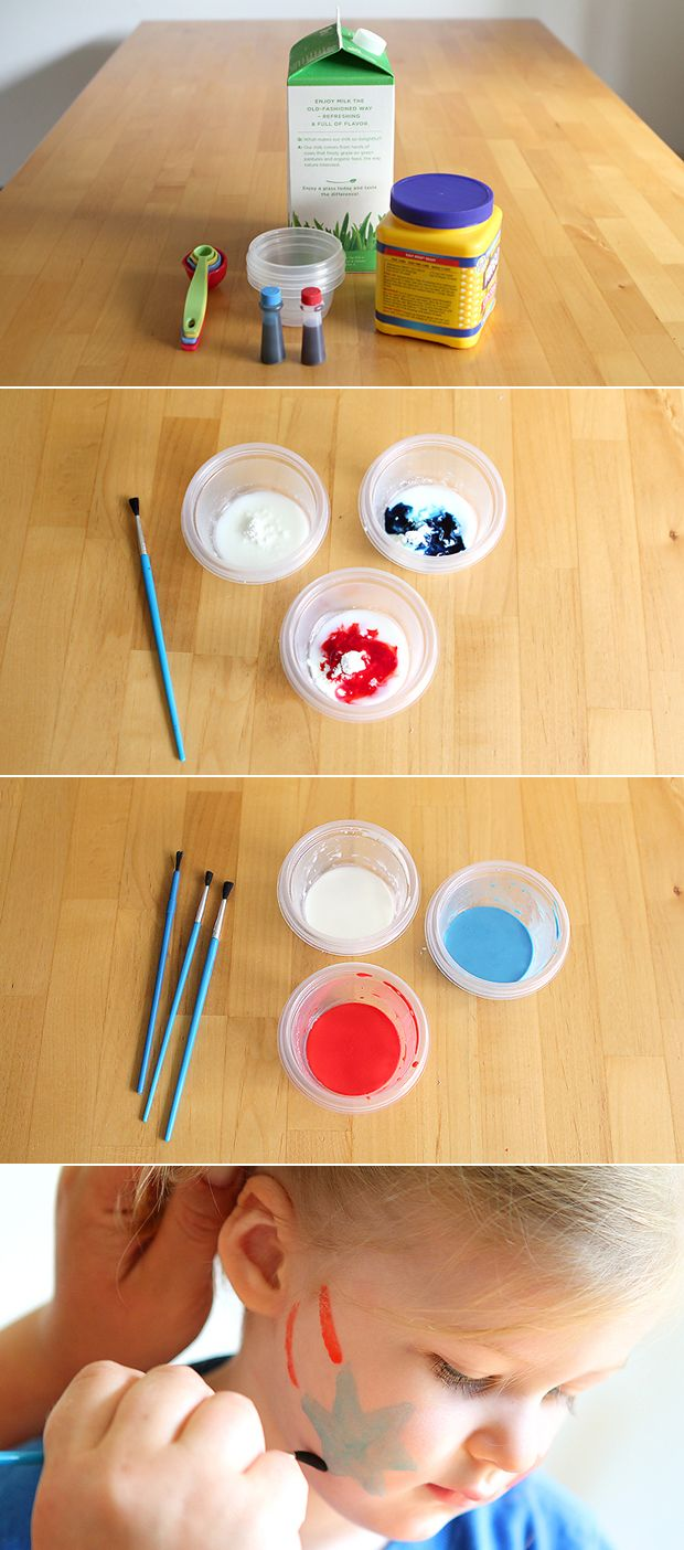 DIY Natural face paint recipe! Perfect for the #4thofJuly!