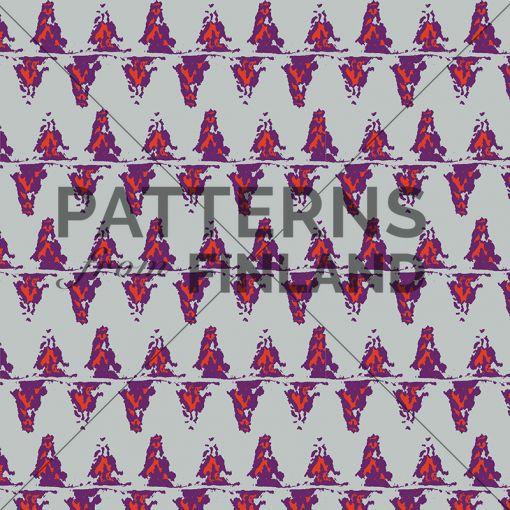 Sari Taipale: Circle of Life – Hunt #patternsfromagency #patternsfromfinland #pattern #patterndesign #surfacedesign #saritaipale