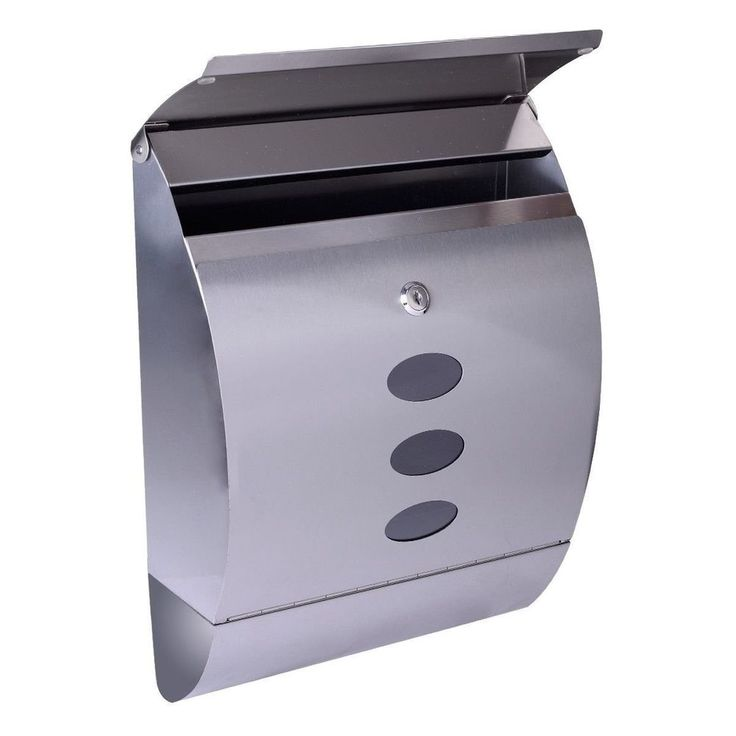Mailbox Stainless Steel Locking Mail Box Letterbox Postal Box Modern Design New