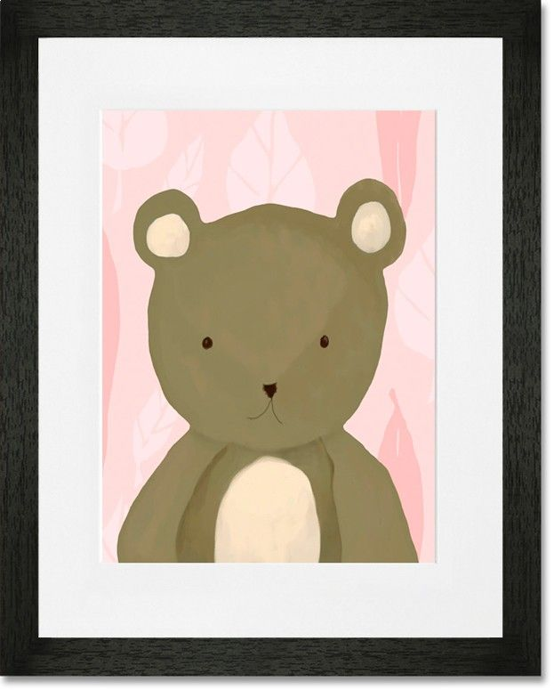 Rosenberry Rooms has everything imaginable for your child's room! Share the news and get $20 Off  your purchase! (*Minimum purchase required.) TR the Bear Pink Framed Art Print