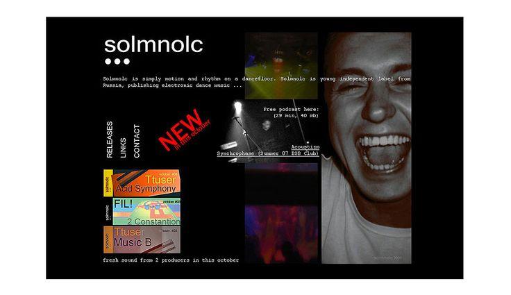 Сайт визитка музыкального лейбла. 2010 г.
