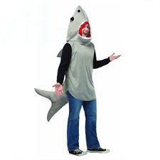 For Guard Sarah in MFG and Simon's play Adult Sand Tiger Shark Attack Costume Animal Unisex Jaws Fish Fancy Dress Outfit
