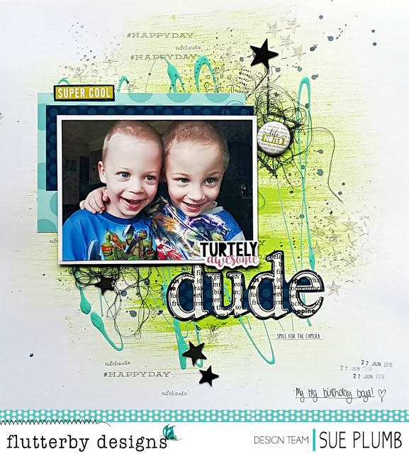 Turtely Awesome Dude   Flutterby Designs   Sue Plumb