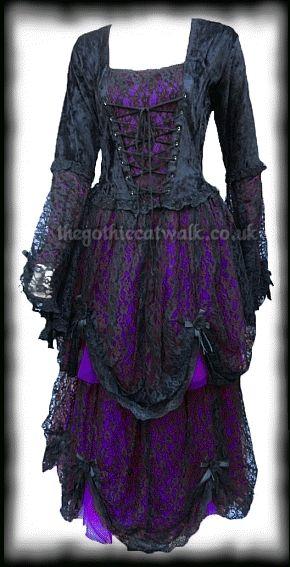 Plus Size Black & Purple Gothic Fairytale Dress