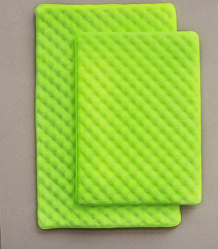 Lime green bath mats