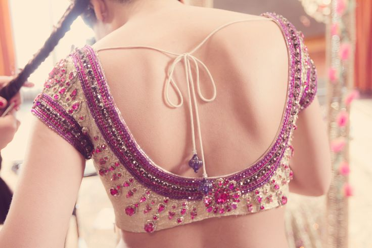 round back saree blouse  see more inspiration @ http://www.modernrani.com