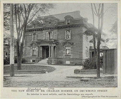 Home of Charles R. Hosmer on Drummond St.  The Standard  http://www.memorablemontreal.com/document/image/original/HM_ARC_000799-001.jpg