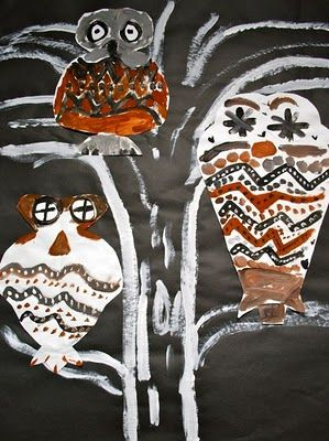 Picasso inspired owl art