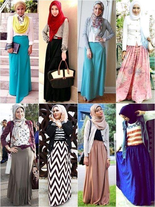 Hijab Fashion 2016/2017: #Hijab Fashion with Long Skirt  Hijab Fashion 2016/2017: Sélection de looks tendances spécial voilées Look Descreption #Hijab Fashion with Long Skirt
