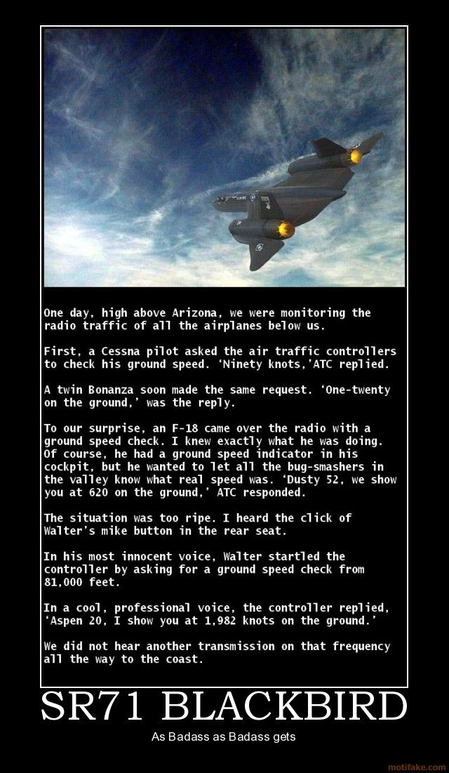"""SR71 BLACKBIRD - """"Ground speed check"""" ...holy crap!  I hope this is real  :)"""
