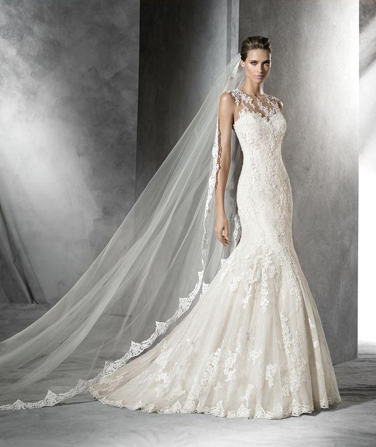 Pladie, abito da sposa con strass in stile sirena