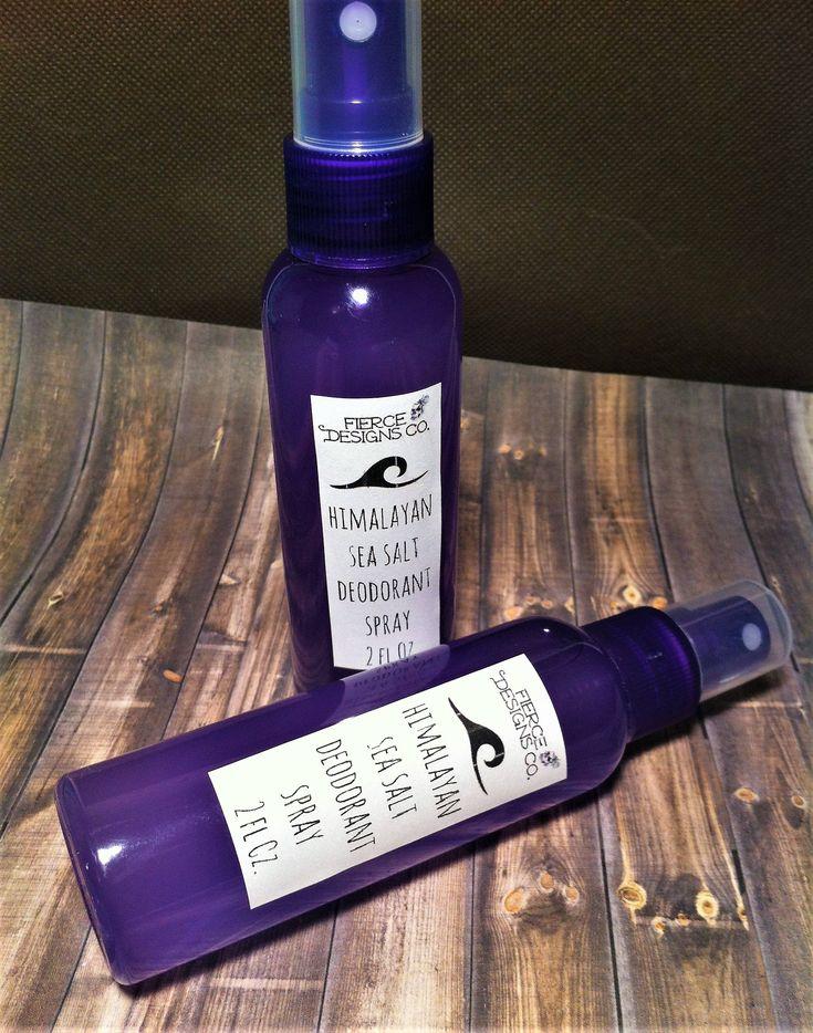 Himalayan Sea Salt Spray On Deodorant 2 Oz. / Essential Oil Deodorant Spray / Lemon Lavender Tea Tree EO Deodorant