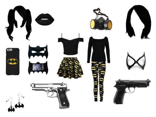 bat gir by mayleneholm on Polyvore featuring Amanda Wakeley, New Look, Lime Crime and GAS Jeans