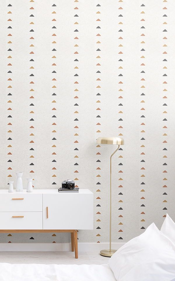 Fototapete Stammeskunst Dreiecke Murals Wallpaper Feature Wall Bedroom Wallpaper Bedroom Boho Wallpaper