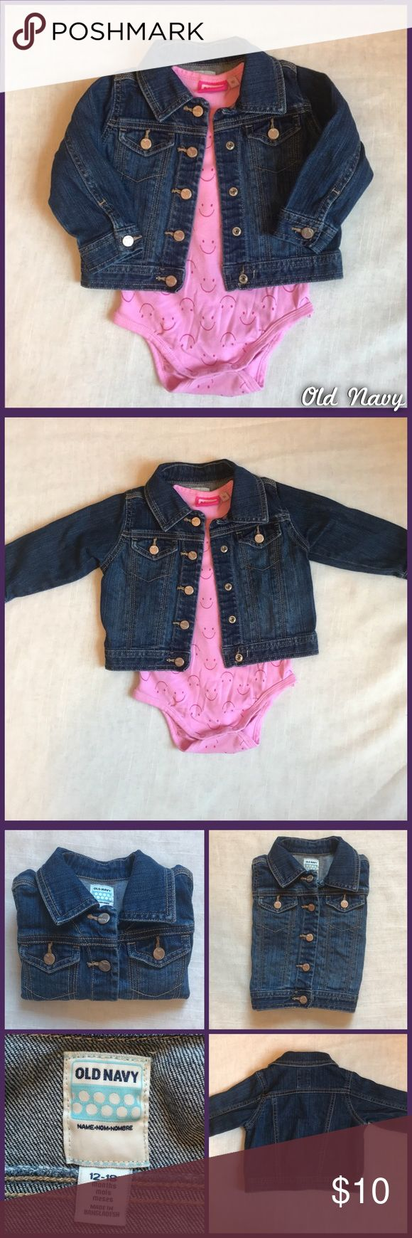 Old Navy Jean Jacket Long sleeve, snap button, jean jacket from Old Navy, size 12 to 18 months, in great pre-lived condition. Old Navy Jackets & Coats Jean Jackets