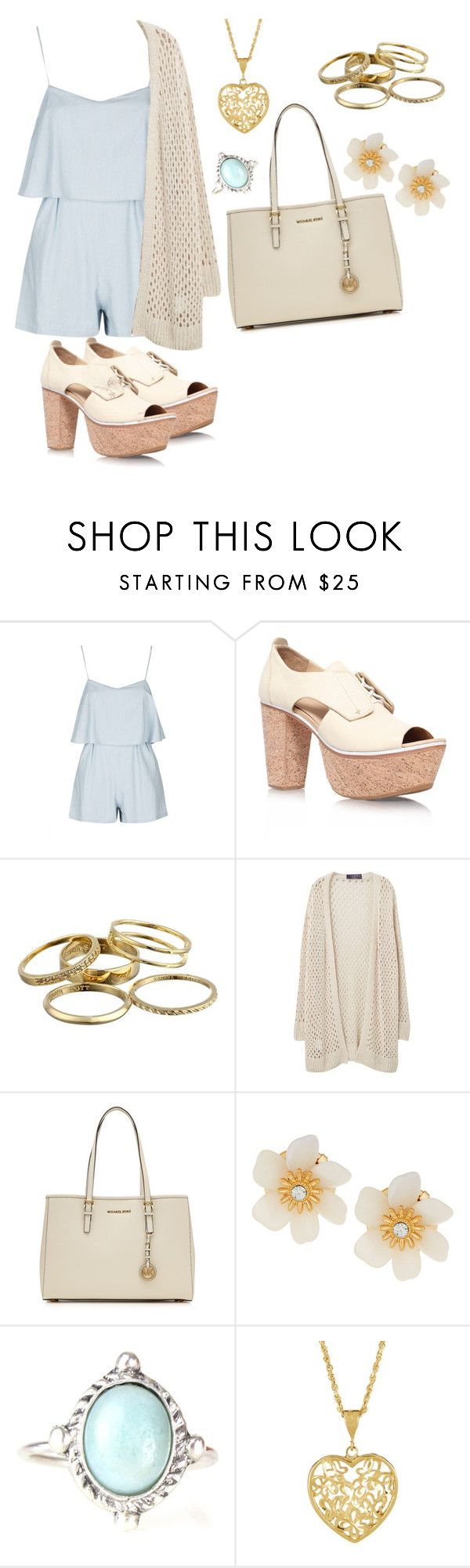 """""""rompers in BABY BLUE"""" by salorah ❤ liked on Polyvore featuring Topshop, rag & bone, Kendra Scott, Violeta by Mango, MICHAEL Michael Kors and Lydell NYC"""