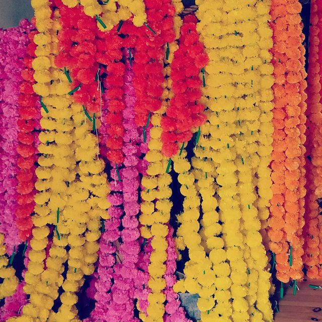 Pack of 10 Indian Artificial Marigold 5 feet Garlands Home Wedding Decoration