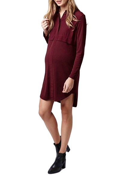 Topshop Maternity Shirtdress available at #Nordstrom