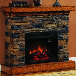Fireplace · Stone Electric FireplaceFaux ...