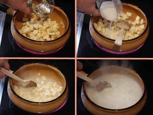Receta de fondue de queso suiza, pasos2