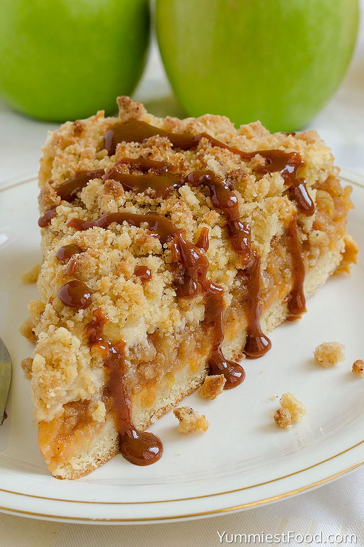 Caramel Apple Crumb Cake - This recipe is perfectly delicious! This Apple Cake with crumb mixture over the top and most amazing caramel glaze is ideal for every occasion!