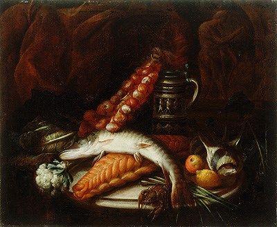 Sebastian Stoskopff: Ščuka, čebula in vrč (Tihožitje z ribo in čebulo)TIME OF ORIGIN 17. stoletje | Museums.EU