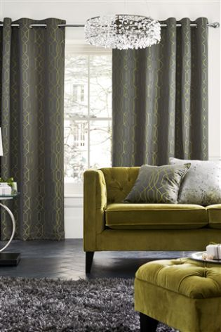 Buy Lattice Geo Eyelet Curtains online today at Next: Rep. of Ireland