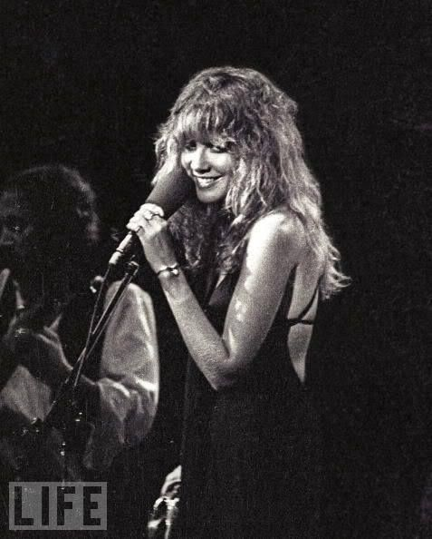 beautiful Stevie ~ ☆♥❤♥☆ ~ featured in Life magazine, with John McVie behind her onstage