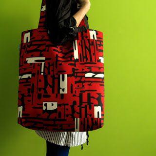 lukola handmade // Literkowa duża torba (czerwony) // Letters big bag (red)