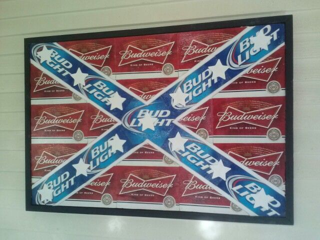Rebel flag beer box picture