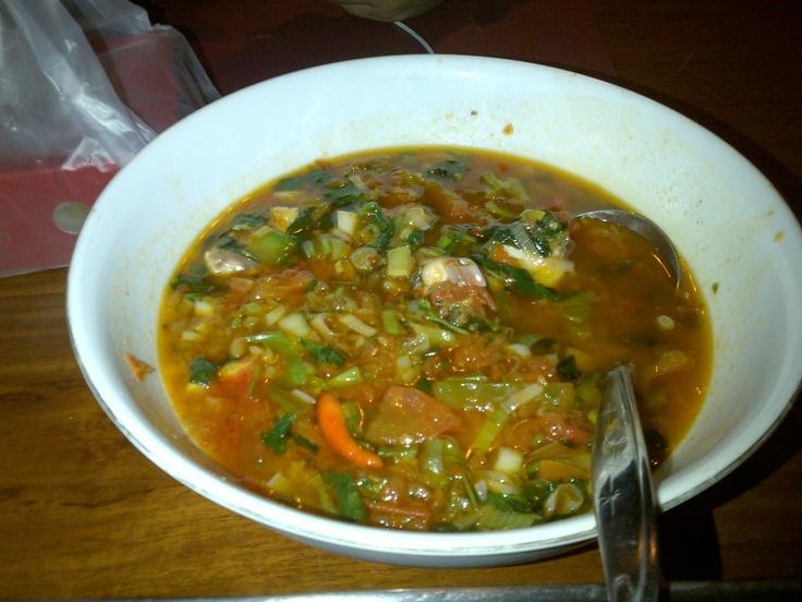 Kakap Woku (spicy), Resto Raja Sate, Manado, Sulawesi